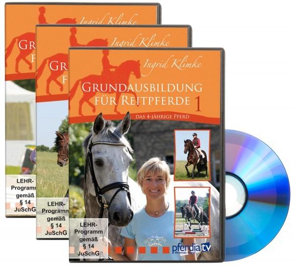 DVD-Grundausbildung für Reitpferde - DVD Set 1-3