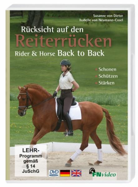 DVD-Rücksicht auf den Reiterrücken