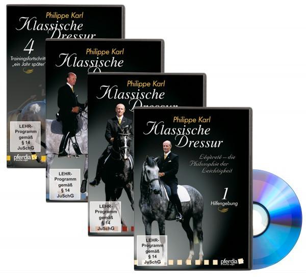 Klassische Dressur Teil 1-4 DVD -Set