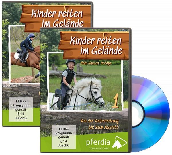 Kinder reiten im Gelände Teil 1 + 2 DVD Set