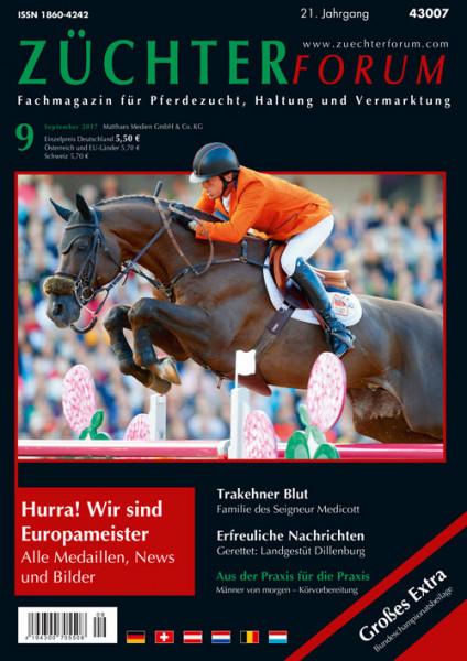 Züchterforum Heft 09/2017 mit Bundeschampionatsbeilage
